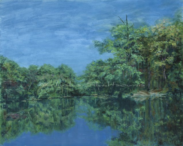 River Park, Woodland Images I, Oil on Canvas, 24x30