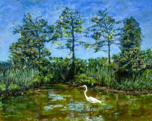 Woodland Pond, Oil on Canvas, 24x30