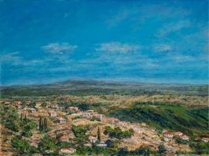 Village Vista, oil on canvas, 24x30